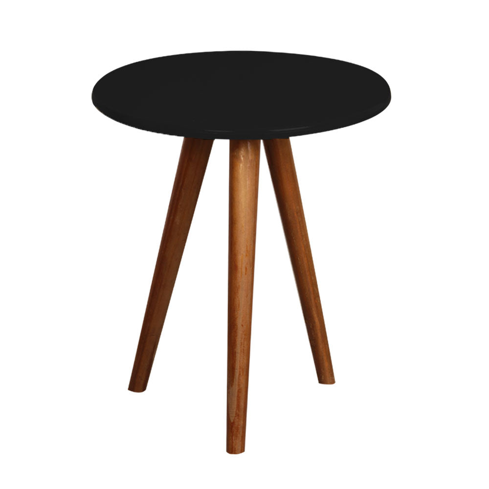 Black Round Table with 3 legs - For Rent
