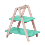 2-Tier Mint Green cupcake Display Ladder