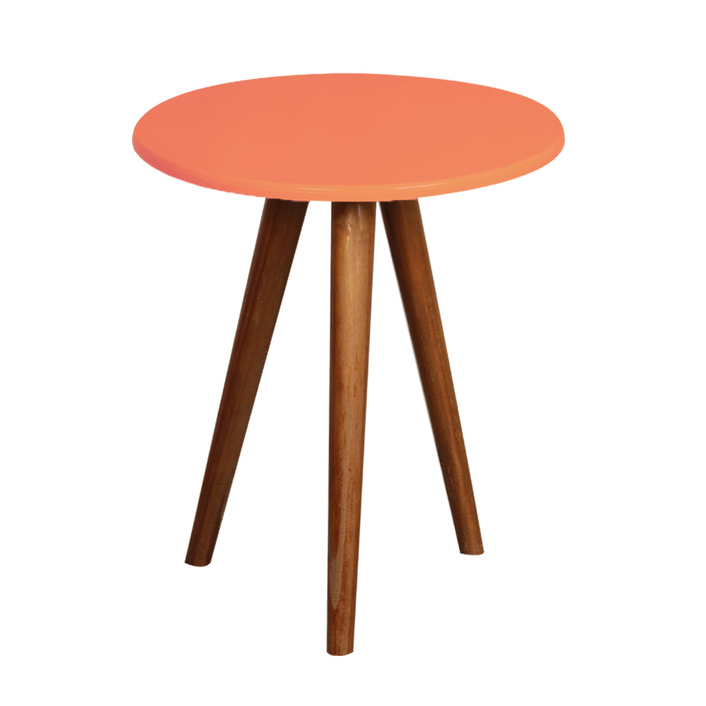 Coral Round Table with 3 Legs