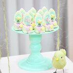 Light Green Mosaic Cake Holders - For Rent