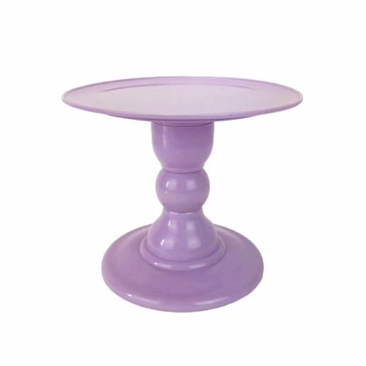 Light Pastel Purple Mosaic Cake Holders - For Rent