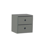 2 Drawer Dark Gray Accent Tabletop Display Riser
