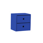 2 Drawer Navy Blue Accent Tabletop Display Riser - For Rent