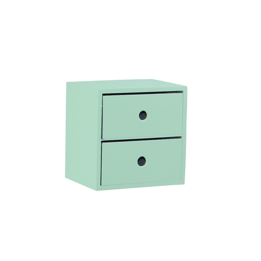 2 Drawer Turquoise Accent Tabletop Display Riser - For Rent