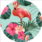 Flamingo 7ft Fabric Backdrop - For Rent