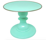 "Mint Green 9"" Round Plate with Gold Border Premium Cake Stand (165/220)"