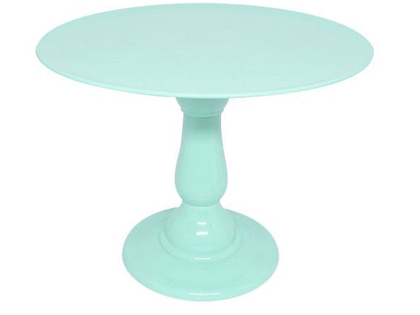 "Mint Green 12"" Round Plate Tall Cake Stand (235/320)"