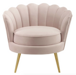 Pink / Blush Velvet Accent chair - For Rent