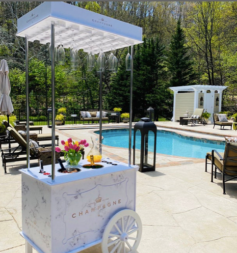 Champagne Cart - For Rent
