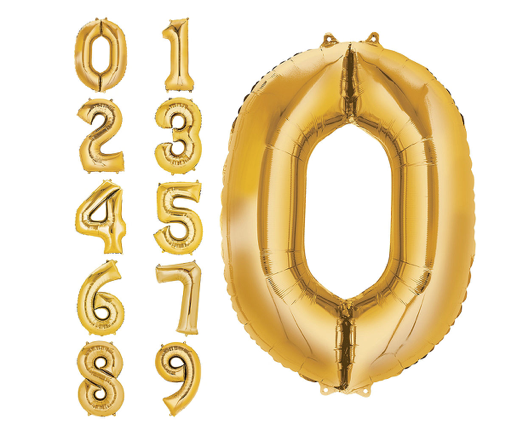 34in  Gold Foil Numbers