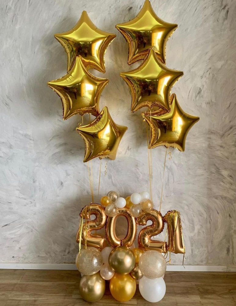 2021 Custom New Year Balloon Bouquet with Design