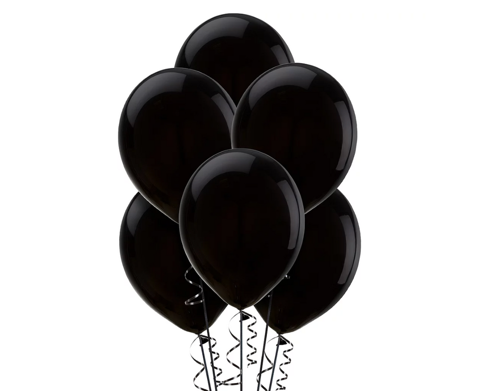 Black Balloons 15ct, 12in.