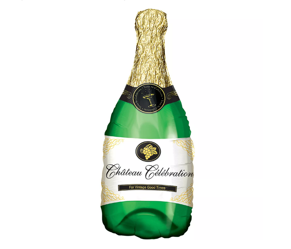 Champagne Bottle Balloon, 36in
