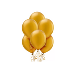 Pearl Gold Balloons 15ct, 12in.