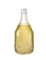 Gold Champagne Bottle Balloon, 36in