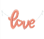 "47"" Giant Rose Gold Air-Filled Script Balloon"