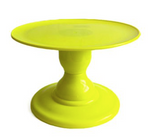 "Yellow NEON Small Stand with 9"" Round Plate (135/220)"