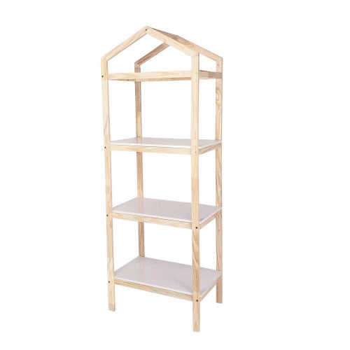 White Tall 3-Tiers Display Shelf - For Rent
