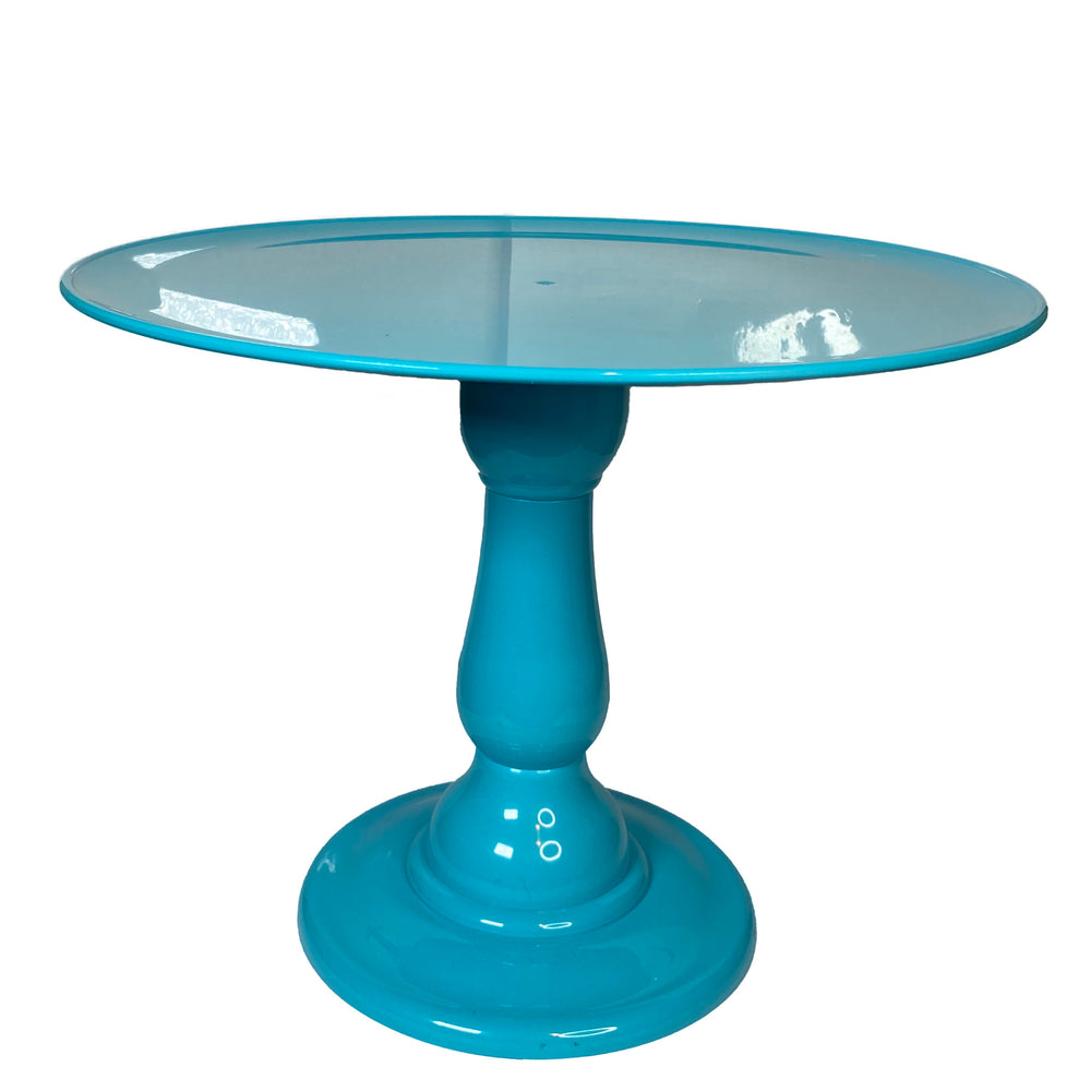"Teal Blue Tiffany Tall Stand with 12"" Round Plate (235/320)"