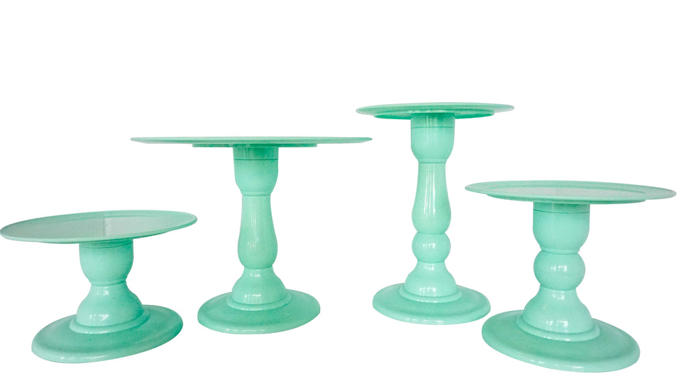"Mint Green 9"" Round Plate Small Cake Stand (135/220)"
