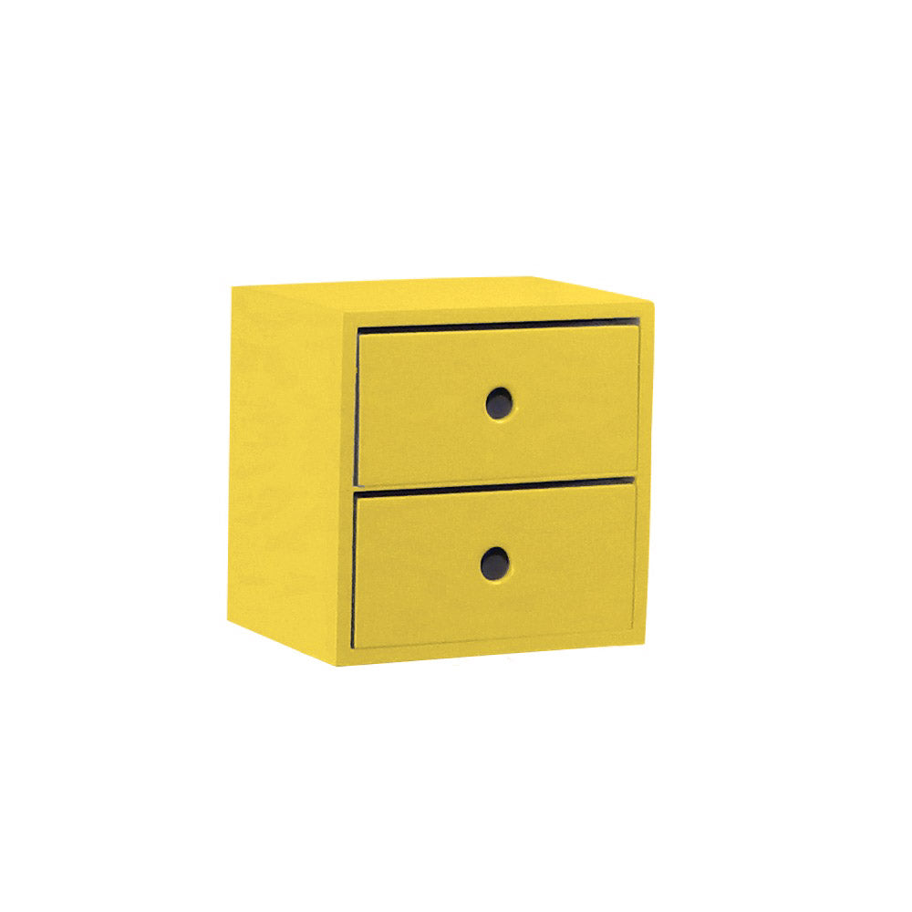 2 Drawer Yellow Accent Tabletop Display Riser - For Rent