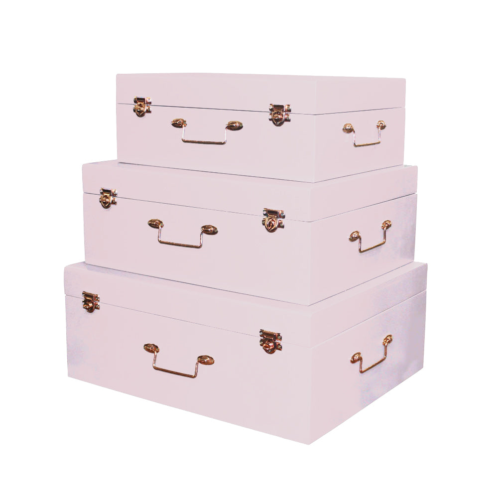 Pastel Light Pink Accent Decor Suitcases - For Rent