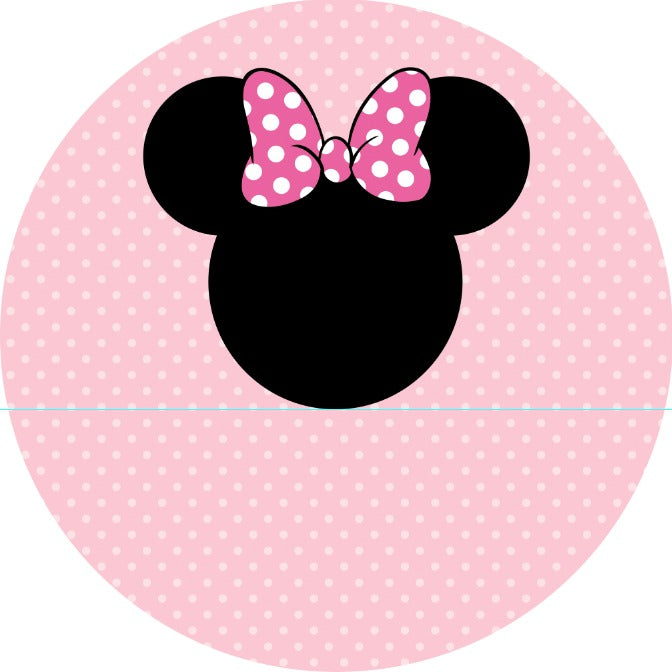 Round Pink Minnie 7ft Fabric Backdrop - For Rent