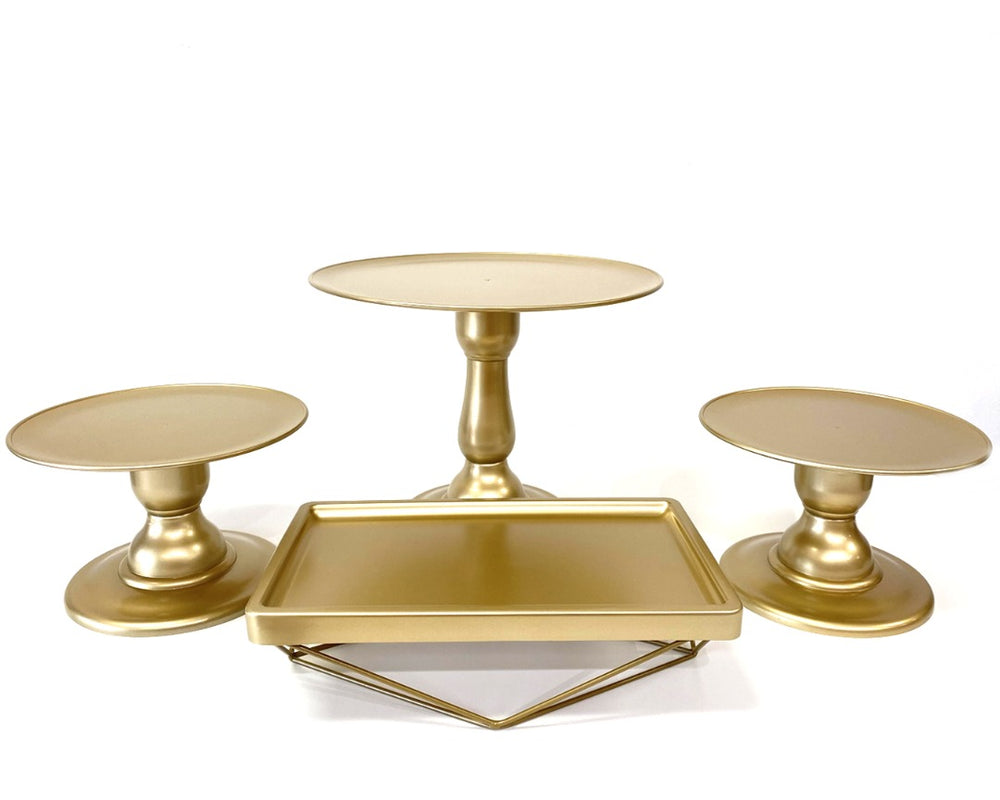 "Gold 9"" Round Plate Tall Cake Stand (235/220)"