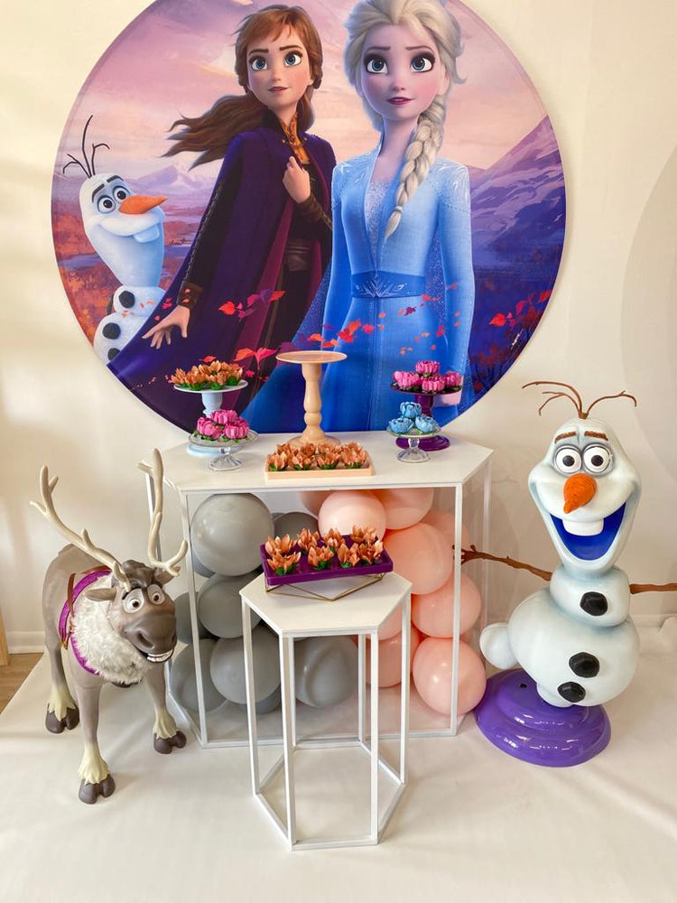 5 Ft Frozen 2 Round Premium Fabric Instant Decor Backdrop