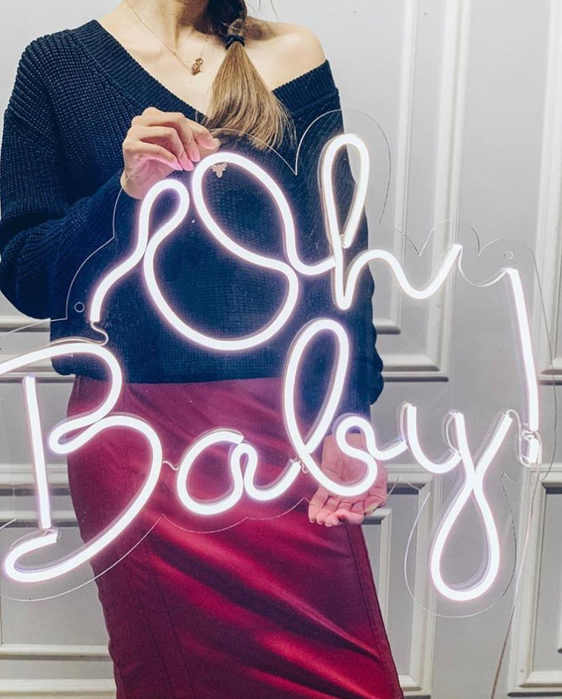 Neon Oh Baby Sign - For Rent