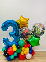 Premium Balloon Bouquet 1 Foil Numbers with Design