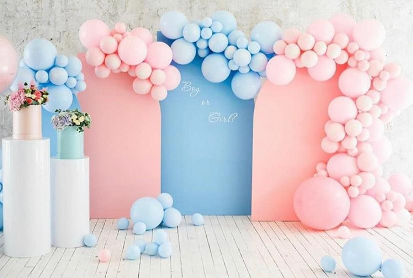 Arched Panels with Customizable Color Backdrop, Set of 3- For Rent
