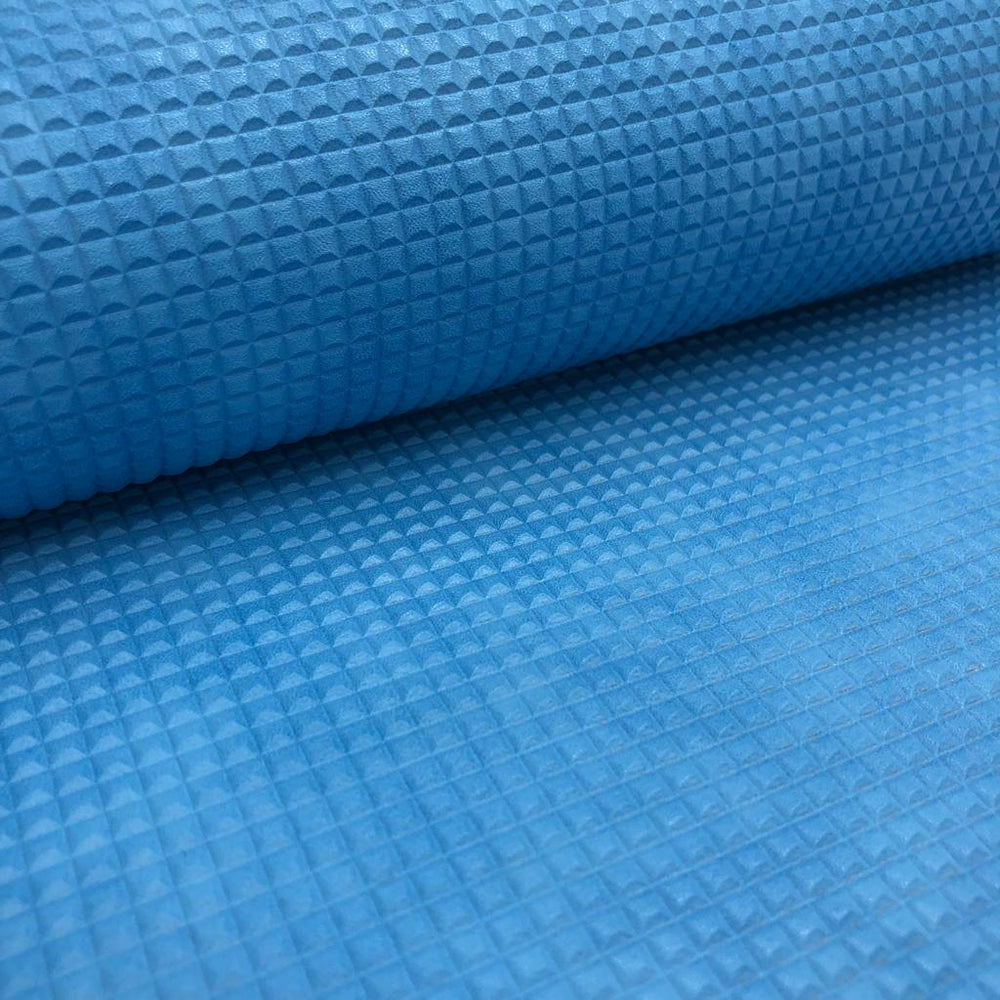 "Checkered Blue Faux Leather scrapbook sheet 17""x12.5"""