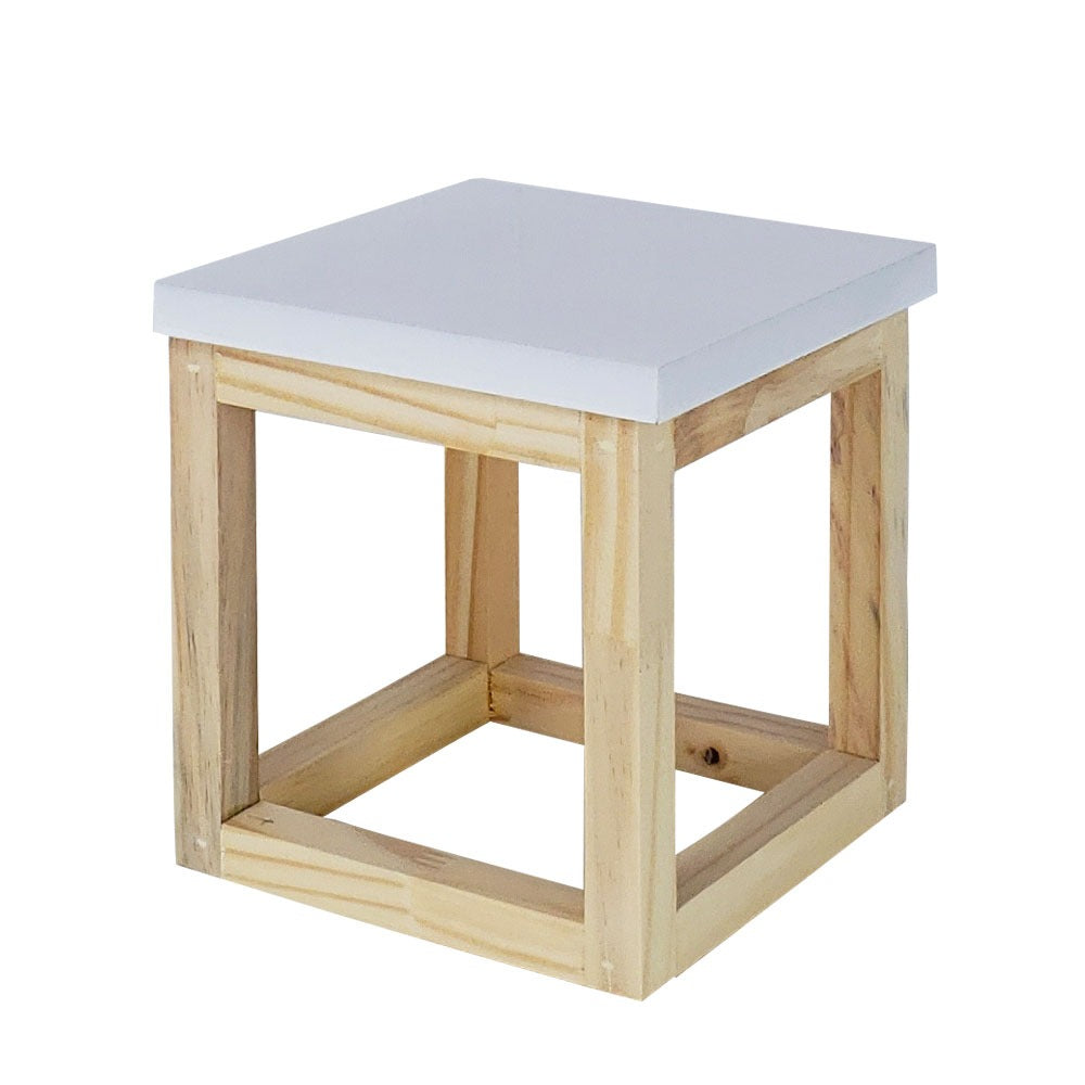 White Tabletop cube riser - For Rent