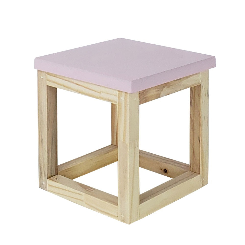 Light Pink Tabletop cube riser - For Rent