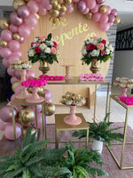 Gold Tables ( 4 sizes) - For Rent