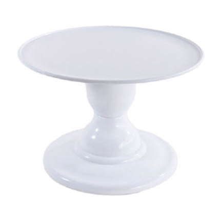 White Mosaic Cake Holders - For Rent