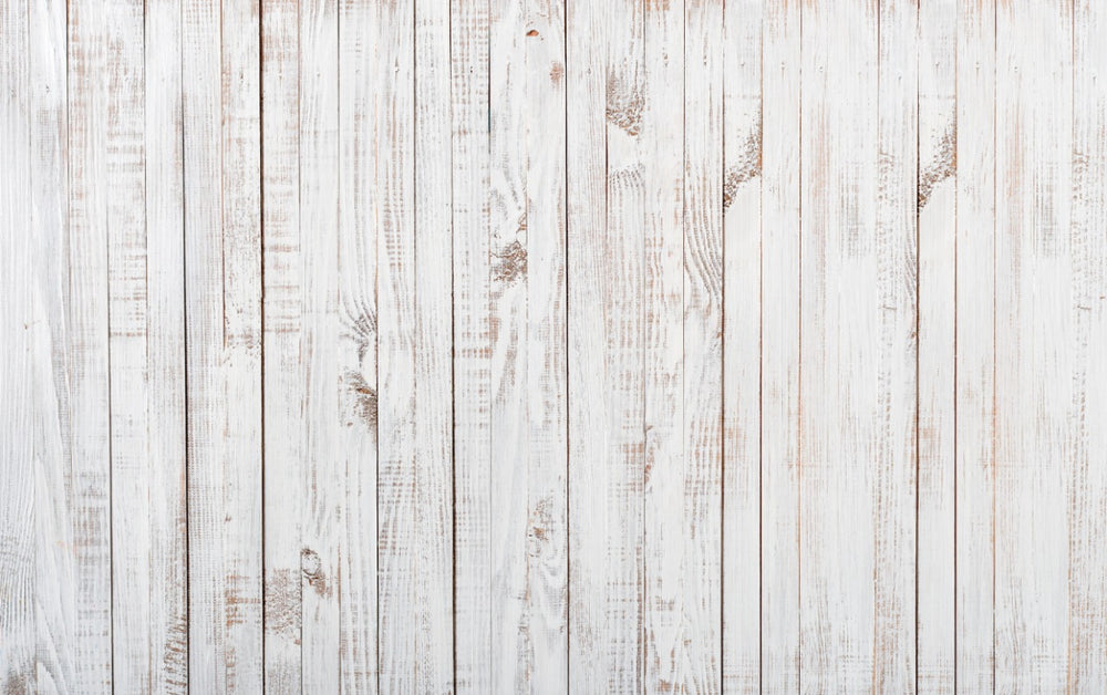 White Wood Wall  Premium Fabric Backdrop 13x8ft- For Rent