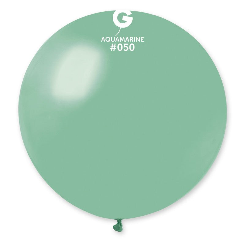 #050 Gemar Aquamarine Latex Balloon