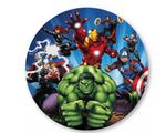 5 Ft The Avengers Round Premium Fabric Backdrop Wall Easy Setup - FOR RENT