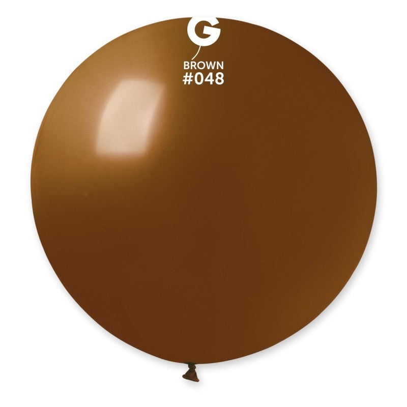 #048 Gemar Brown Latex Balloon
