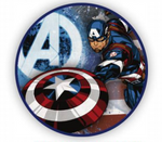3 Ft Captain America Round TNT Fabric Backdrop Wall Easy Setup