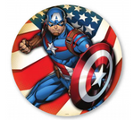 Captain America Round Fabric Backdrop Wall Easy Setup - For Rent