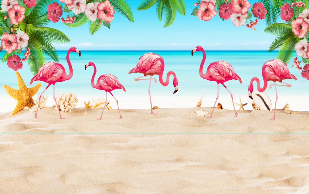 Flamingo Premium Fabric Backdrop 13ft x 8ft - FOR RENT