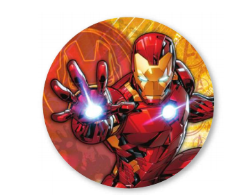 5 Ft Iron Man Round Premium Fabric Backdrop Wall Easy Setup - FOR RENT