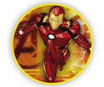 3 Ft Iron Man Round TNT Fabric Backdrop Wall Easy Setup
