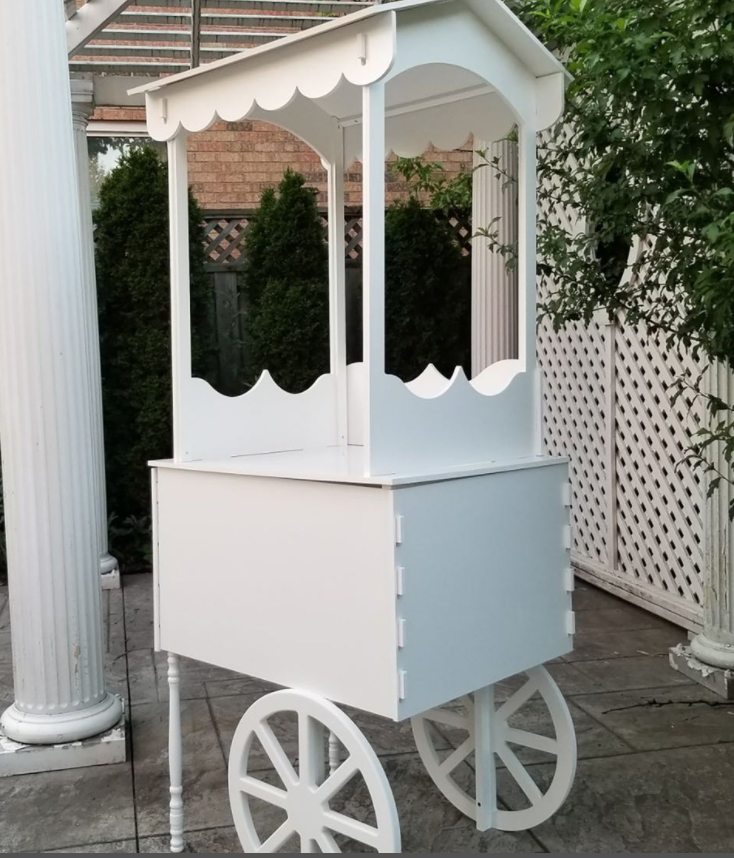 White Candy Cart - For Rent