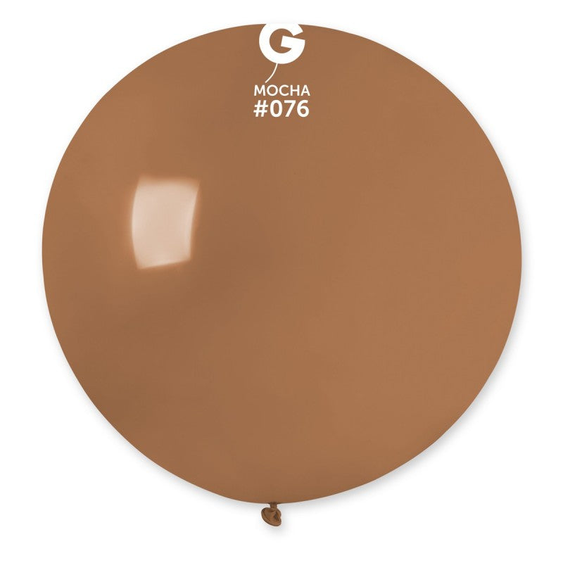 #076 Gemar Mocha Latex Balloon