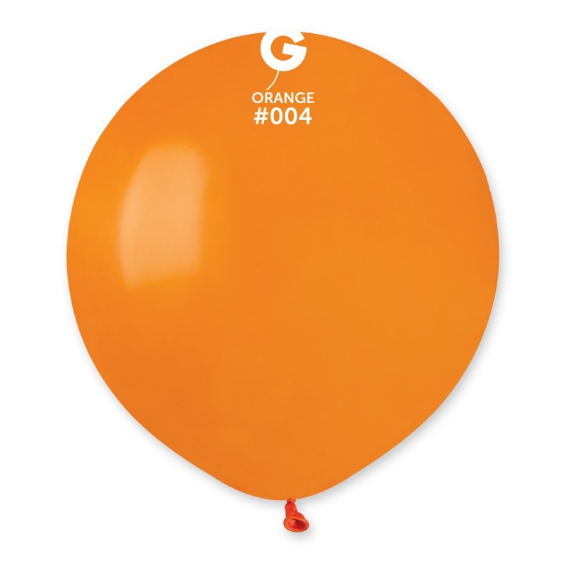 #004 Gemar Orange Latex Balloon