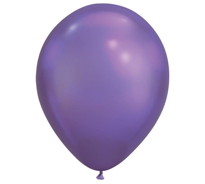 Qualatex Chrome Purple Latex Balloon, 100ct
